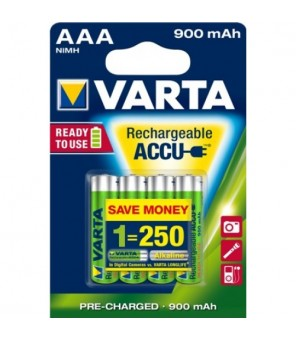 Varta Longlife Accu AAA įkraunamos baterijos 900 mAh (4vnt) 56713