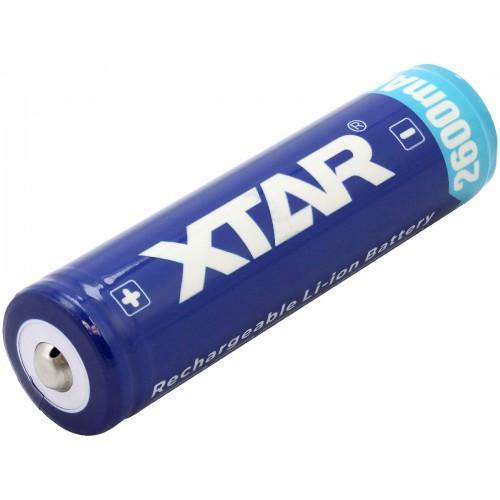 Baterija 18650 3.7V 2600mAh Li-Ion su integruotu krovimo valdikliu PCB
