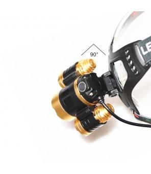 Žibintuvėlis ant galvos su judesio davikliu ir fokusavimo funkcija