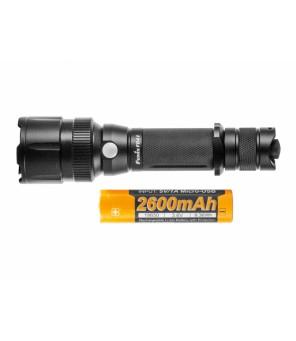 Fenix FD41 žibintuvėlis + 2600U 18650 baterija ir mėlynas filtras